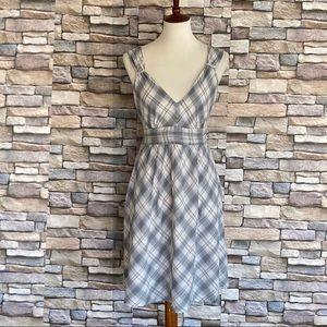 Converse Fit & Flare Dress Plaid Cotton Size L